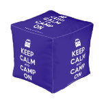 [Campervan] keep calm and camp on  Cube Pouf