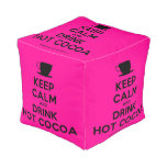 [Cup] keep calm and drink hot cocoa  Cube Pouf