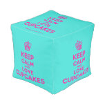 [Cupcake] keep calm and love cupcakes  Cube Pouf