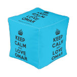 [Crown] keep calm and love omar  Cube Pouf