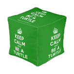[Crown] keep calm and be a turtle  Cube Pouf