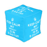 [Cupcake] keep calm my birthday is in 9 days!!  Cube Pouf