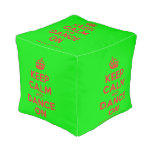 [Crown] keep calm and dance on  Cube Pouf