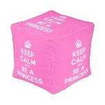 [Crown] keep calm and be a princess  Cube Pouf