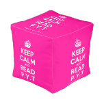 [Crown] keep calm and read p.y.t  Cube Pouf
