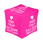 [Love heart] keep calm and eat some skittles!  Cube Pouf