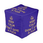 [Dancing crown] keep calm and don't give a fuck  Cube Pouf
