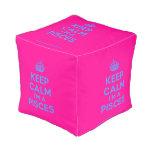 [Crown] keep calm i'm a pisces  Cube Pouf