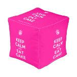 [Cupcake] keep calm and eat cake  Cube Pouf