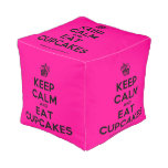 [Cupcake] keep calm and eat cupcakes  Cube Pouf