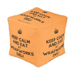 [Crown] keep calm and eat at wrapworks deli  Cube Pouf