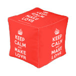 [Crown] keep calm and make lovr  Cube Pouf