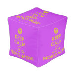 [Smile] keep calm and join moko.mobi  Cube Pouf