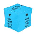 [Love heart] keep calm and love cma  Cube Pouf