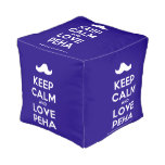 [Moustache] keep calm and love peha  Cube Pouf