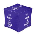 [UK Flag] keep a stiff upper lip  Cube Pouf