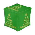 [Crown] bly kalm en wees n 100% boeremeisie  Cube Pouf