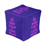 [Dancing crown] keep calm and love music  Cube Pouf