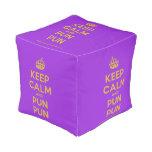 [Crown] keep calm and pun pun  Cube Pouf