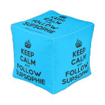 [Crown] keep calm and follow supsophie  Cube Pouf