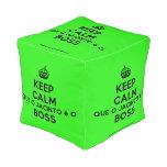 [Crown] keep calm que o jacinto é o boss  Cube Pouf