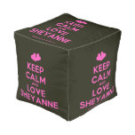 [Two hearts] keep calm and love sheyanne  Cube Pouf