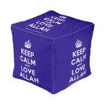 [Crown] keep calm and love allah  Cube Pouf
