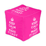 [Crown] keep calm and make it easy  Cube Pouf