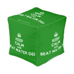 [Crown] keep calm and beat mater dei  Cube Pouf
