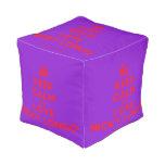 [Crown] keep calm and love nicky longo  Cube Pouf