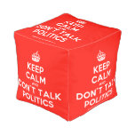 [Crown] keep calm and don't talk politics  Cube Pouf