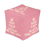 [Crown] keep calm and watch one tree hill  Cube Pouf