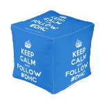 [Crown] keep calm and follow #dhc  Cube Pouf