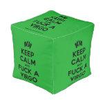 [Feet] keep calm and fuck a virgo  Cube Pouf