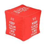 [UK Flag] keep calm and run like fuck  Cube Pouf