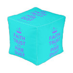 [Knitting crown] faith trust and pixie dust  Cube Pouf