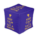 [Chef hat] keep calm and eat a muffin  Cube Pouf