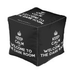 [Crown] keep calm and welcome to the dark room  Cube Pouf