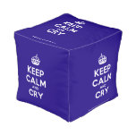 [Crown] keep calm and cry  Cube Pouf