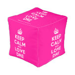 [Crown] keep calm and love dre  Cube Pouf