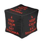 [Campfire] keep calm and eat shaorma  Cube Pouf