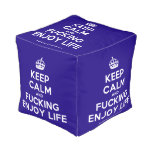 [Crown] keep calm and fucking enjoy life  Cube Pouf