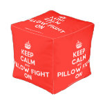 [Crown] keep calm and pillow fight on  Cube Pouf