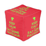 [Chef hat] keep calm and eat some pasteque  Cube Pouf
