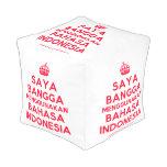 [Crown] saya bangga menggunakan bahasa indonesia  Cube Pouf