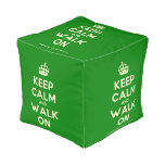 [Crown] keep calm and walk on  Cube Pouf