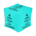 [Crown] keep calm and eat cookies  Cube Pouf
