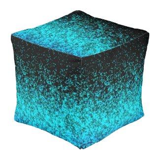 Cube Pouf Glitter Dust