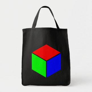 Cube - Red, Green and Blue Tote Bag