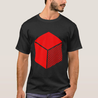 Cube - Red on Dark T-Shirt